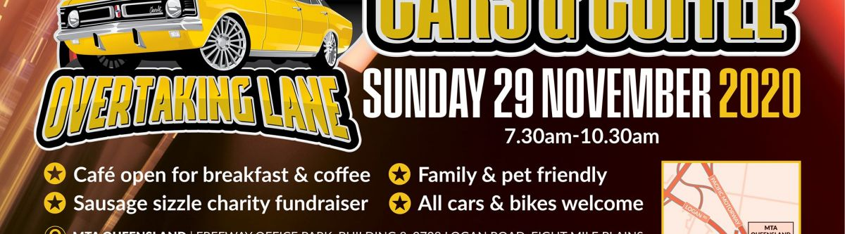 Cars & Coffee Hosted By Overtaking Lane (Qld) Cover Image