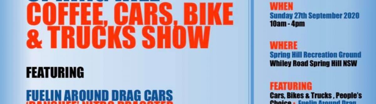 Spring Hill Coffee, Cars, Bikes & Trucks Show (NSW) Cover Image