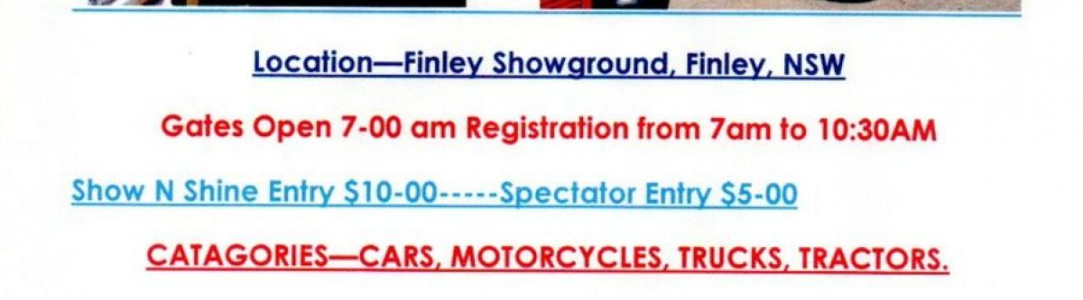 Finley Show & Shine (NSW) Cover Image